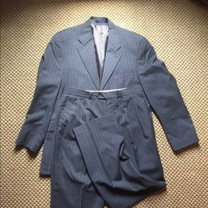 Chaps wool/cashmere grey pinstripe suit